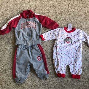 Other - Ohio State Buckeyes Baby sleeper/ outfit bundle